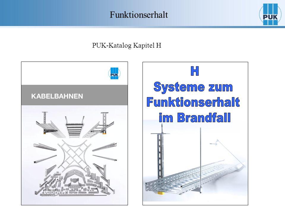 H Systeme zum Funktionserhalt im Brandfall Funktionserhalt
