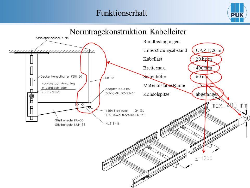 Normtragekonstruktion Kabelleiter