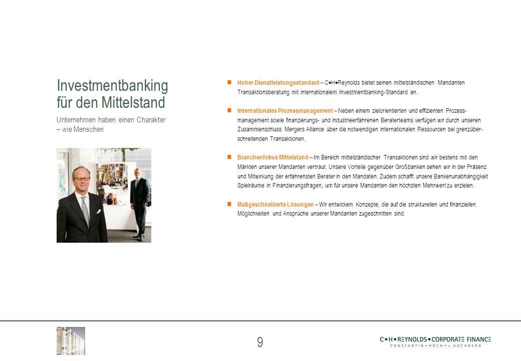 Investmentbanking für den Mittelstand