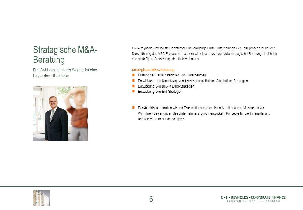 Strategische M&A- Beratung