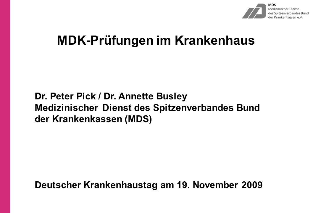 MDK-Prüfungen im Krankenhaus