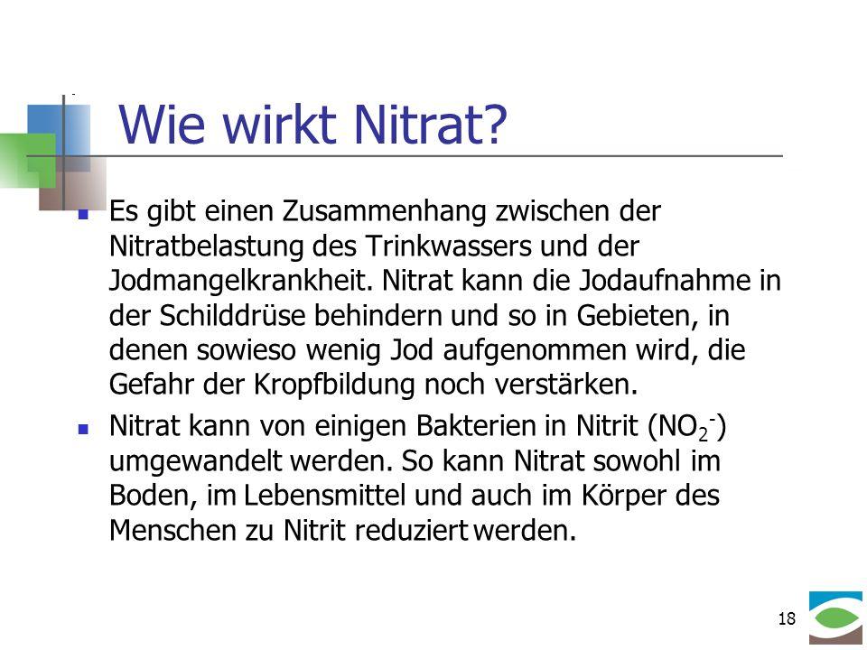 Wie wirkt Nitrat