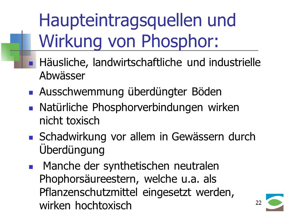 Haupteintragsquellen und Wirkung von Phosphor: