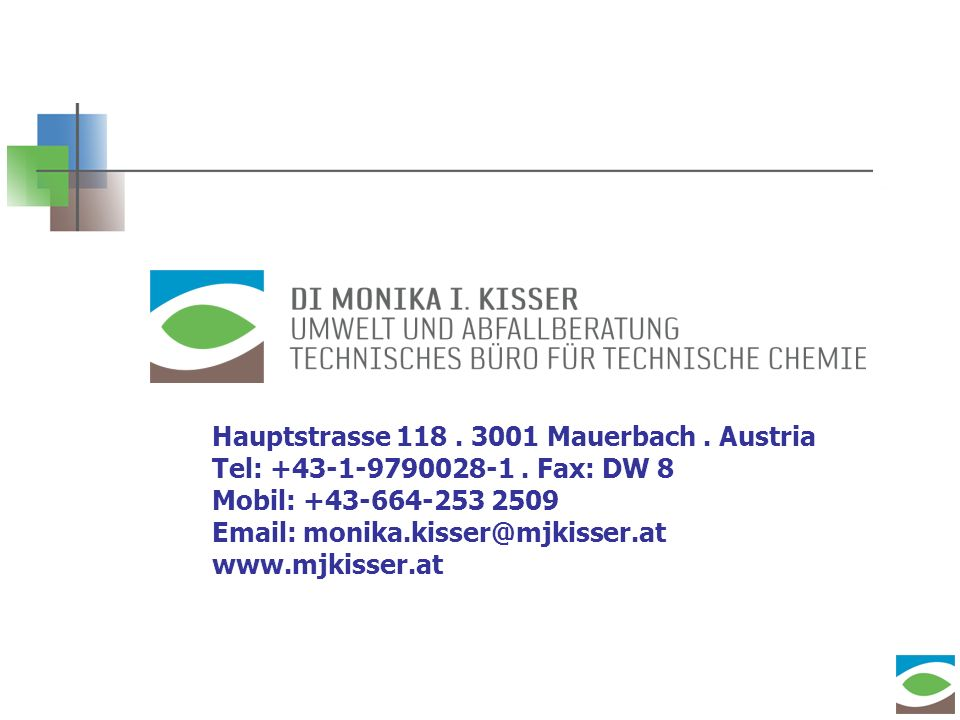 Hauptstrasse 118. 3001 Mauerbach. Austria Tel: +43-1-9790028-1