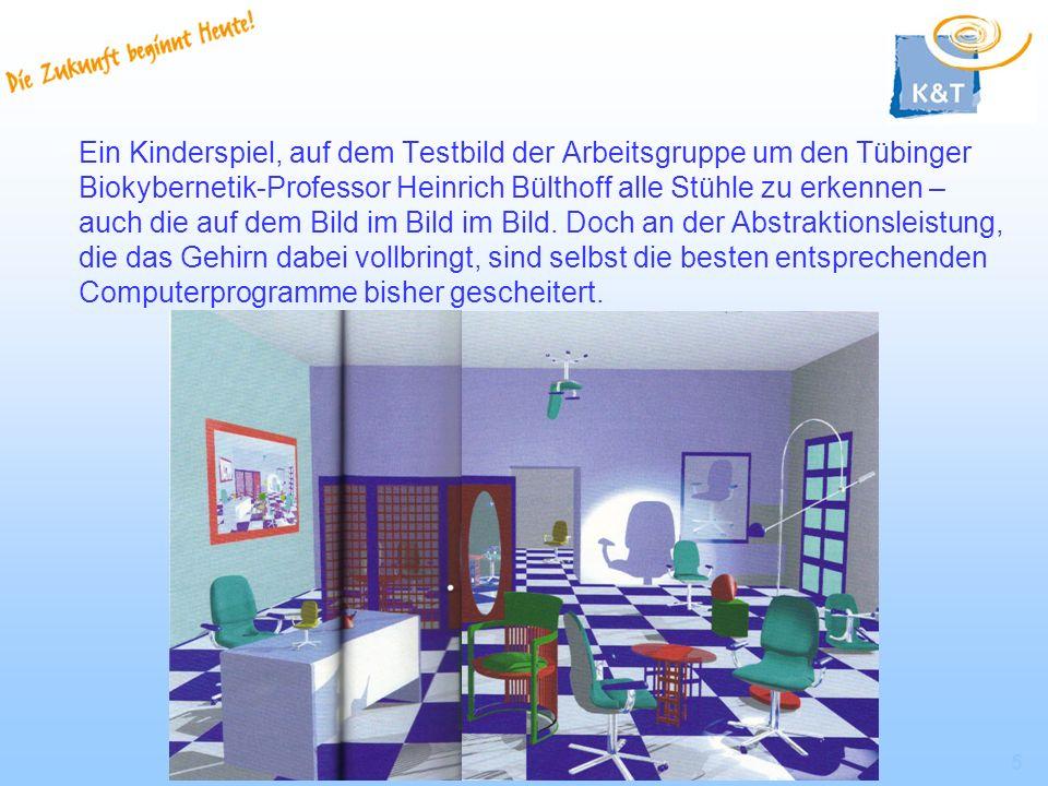 Ein Kinderspiel, auf dem Testbild der Arbeitsgruppe um den Tübinger Biokybernetik-Professor Heinrich Bülthoff alle Stühle zu erkennen – auch die auf dem Bild im Bild im Bild.