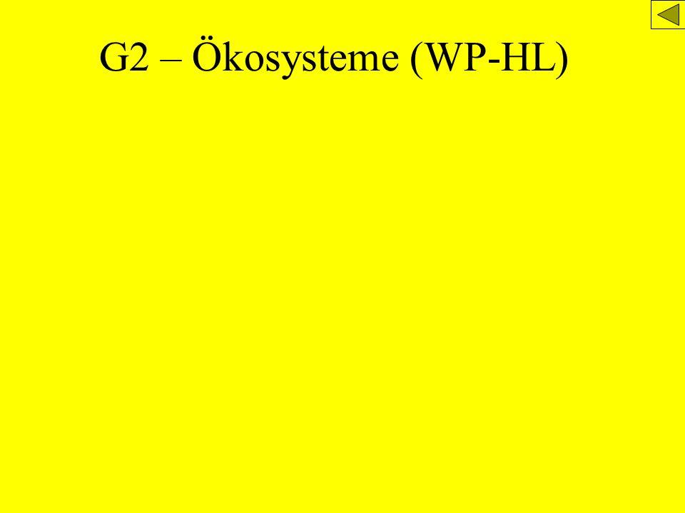 G2 – Ökosysteme (WP-HL)