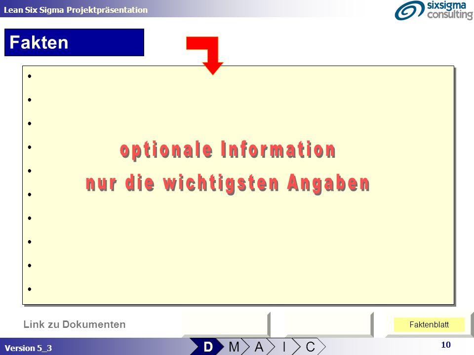 optionale Information nur die wichtigsten Angaben