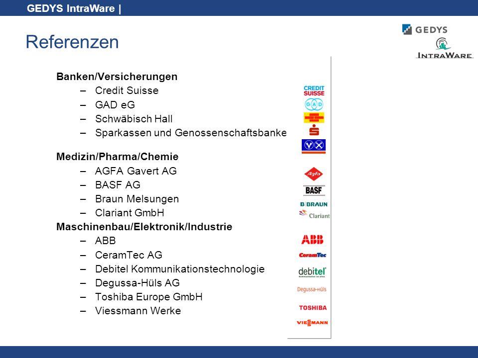 Referenzen Banken/Versicherungen Credit Suisse GAD eG Schwäbisch Hall
