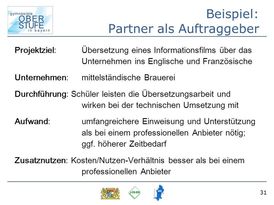 Beispiel: Partner als Auftraggeber