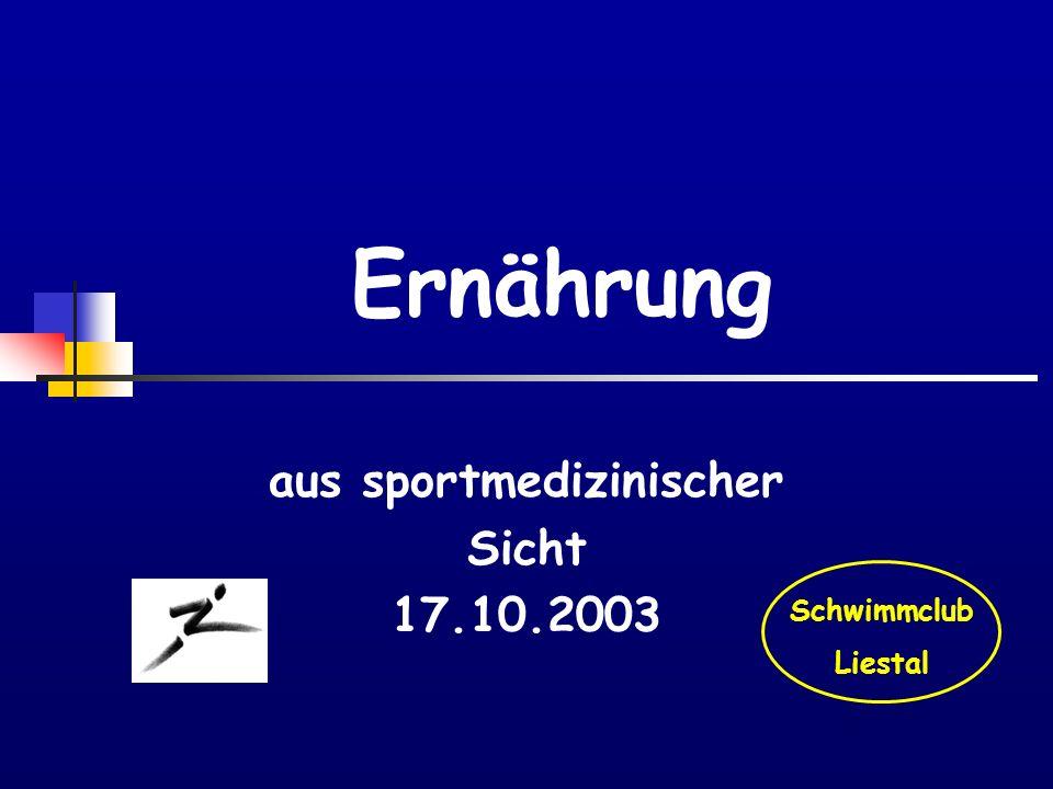 aus sportmedizinischer Sicht 17.10.2003