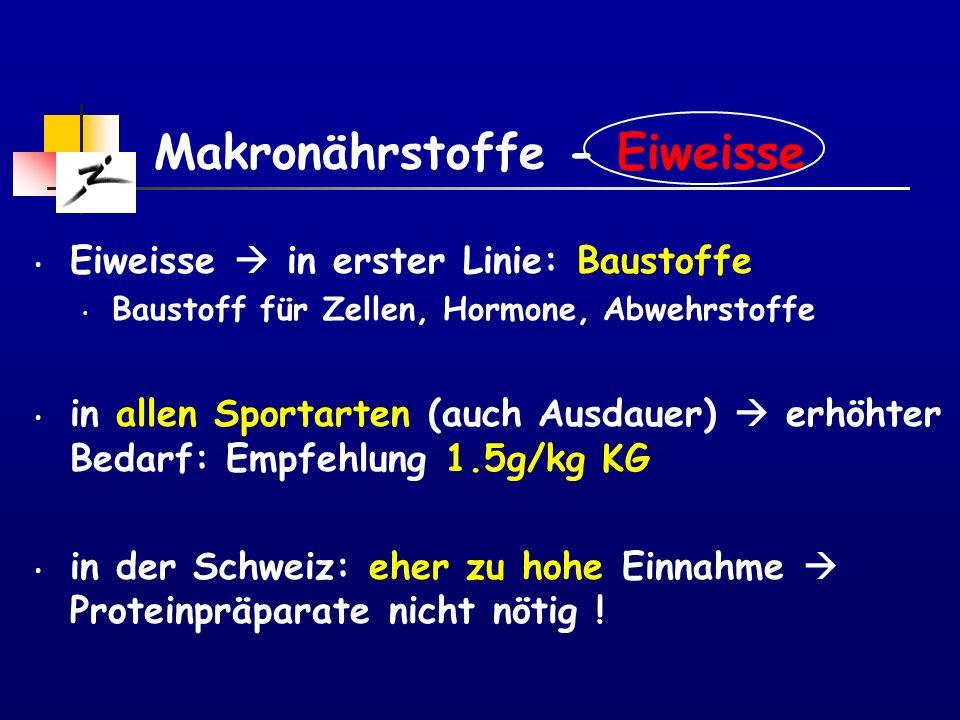 Makronährstoffe - Eiweisse