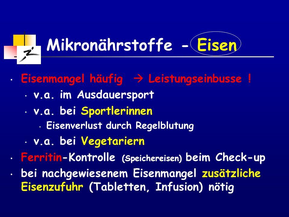 Mikronährstoffe - Eisen
