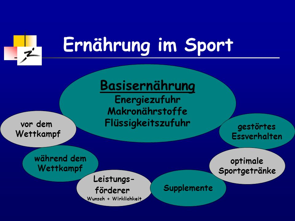 Ernährung im Sport Basisernährung Energiezufuhr Makronährstoffe