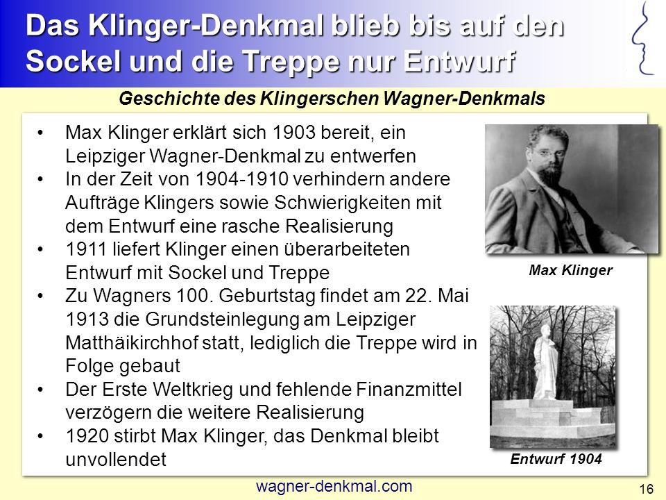 Das Klinger-Denkmal blieb bis auf den Sockel und die Treppe nur Entwurf