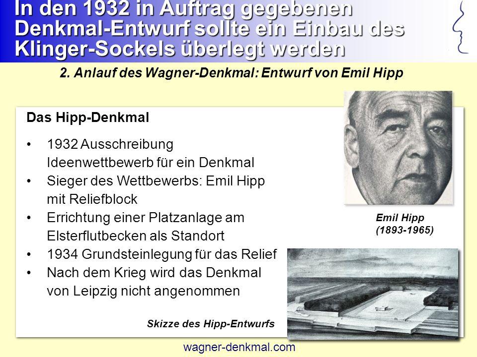 In den 1932 in Auftrag gegebenen Denkmal-Entwurf sollte ein Einbau des Klinger-Sockels überlegt werden