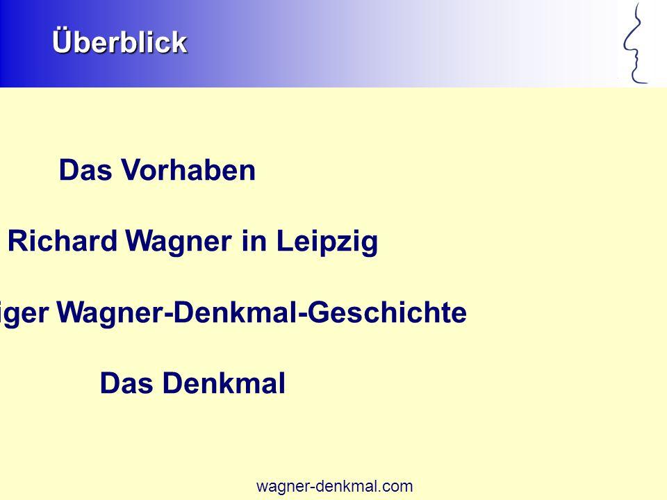 Richard Wagner in Leipzig Leipziger Wagner-Denkmal-Geschichte