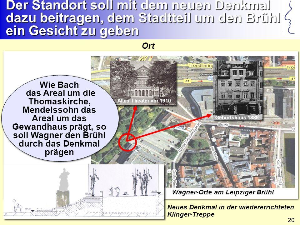 Der Standort soll mit dem neuen Denkmal dazu beitragen, dem Stadtteil um den Brühl ein Gesicht zu geben