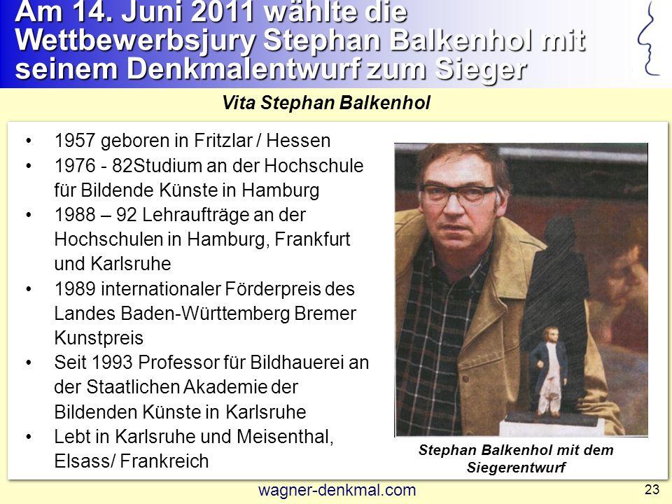 Stephan Balkenhol mit dem Siegerentwurf