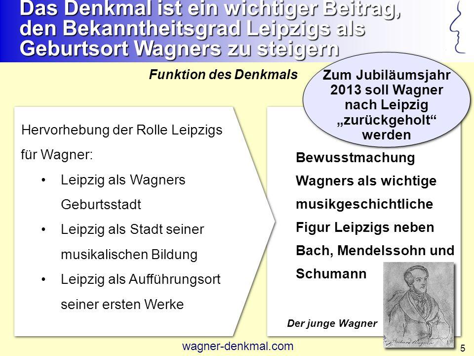 """Zum Jubiläumsjahr 2013 soll Wagner nach Leipzig """"zurückgeholt werden"""