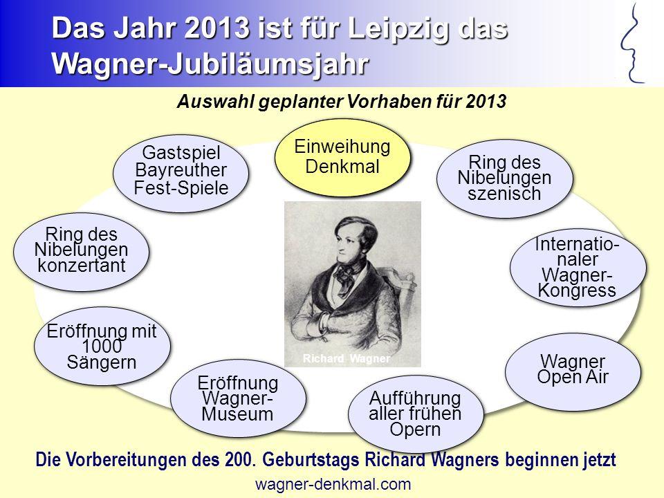 Das Jahr 2013 ist für Leipzig das Wagner-Jubiläumsjahr