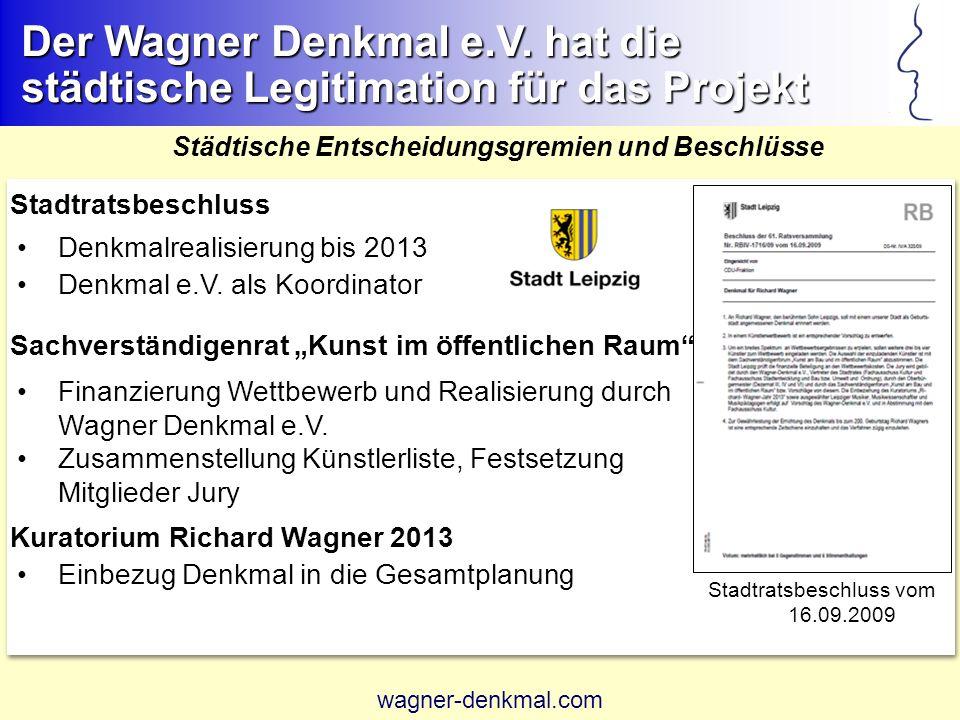 Stadtratsbeschluss vom 16.09.2009