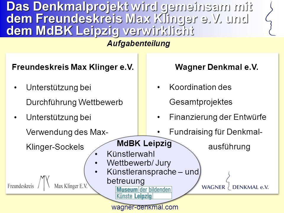 Das Denkmalprojekt wird gemeinsam mit dem Freundeskreis Max Klinger e