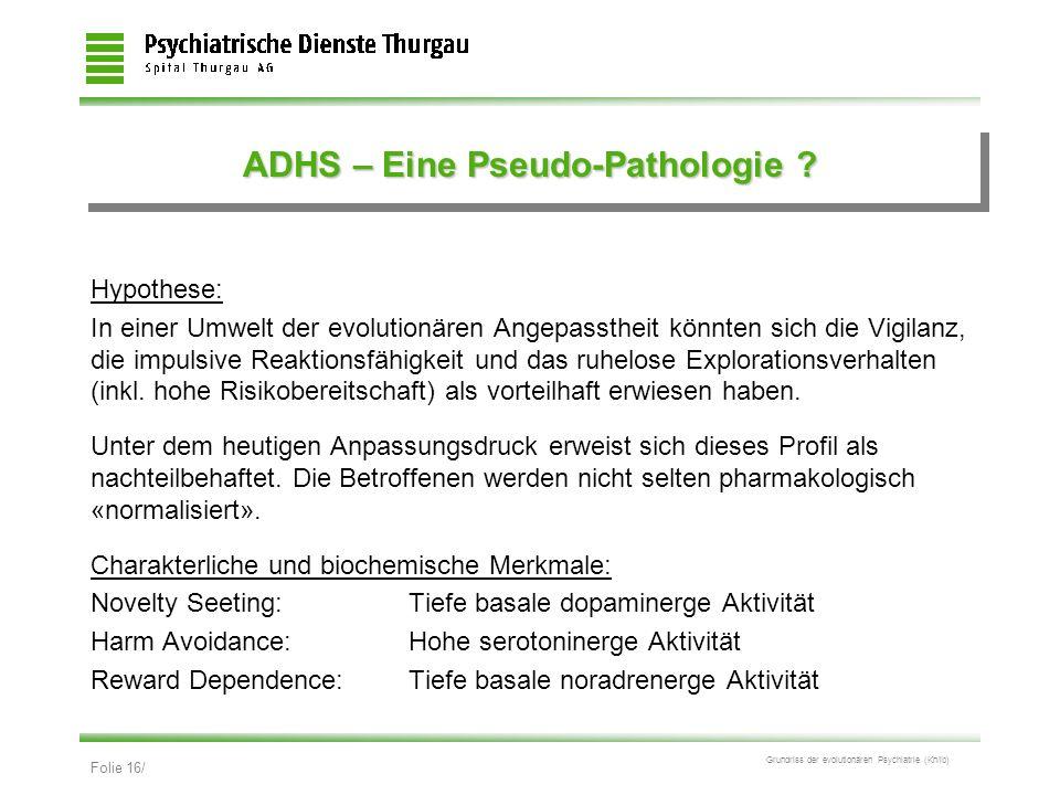 ADHS – Eine Pseudo-Pathologie