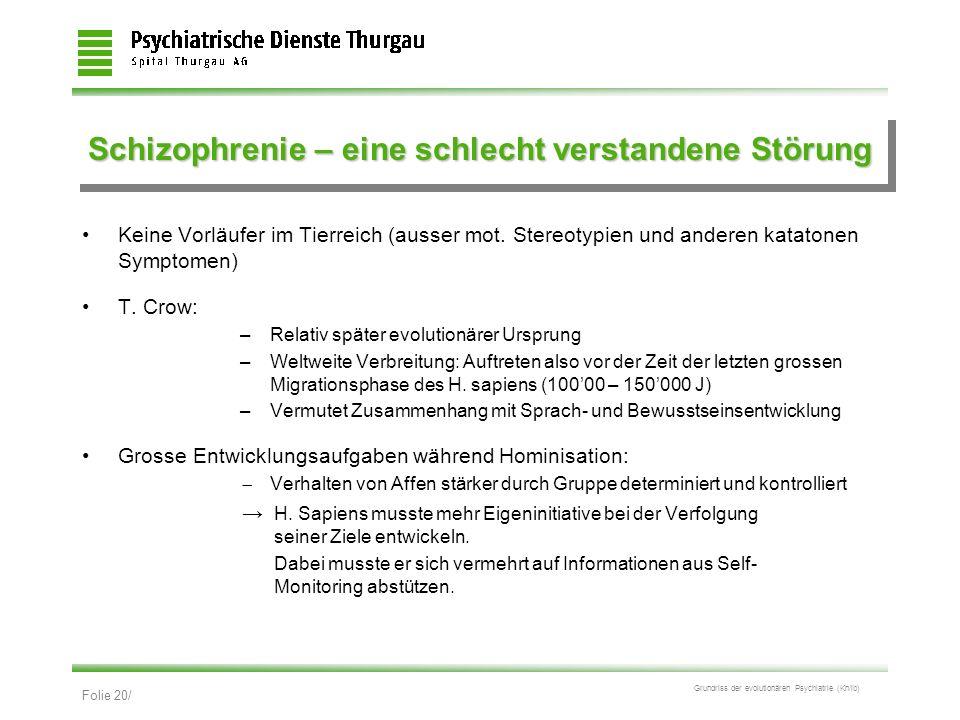 Schizophrenie – eine schlecht verstandene Störung