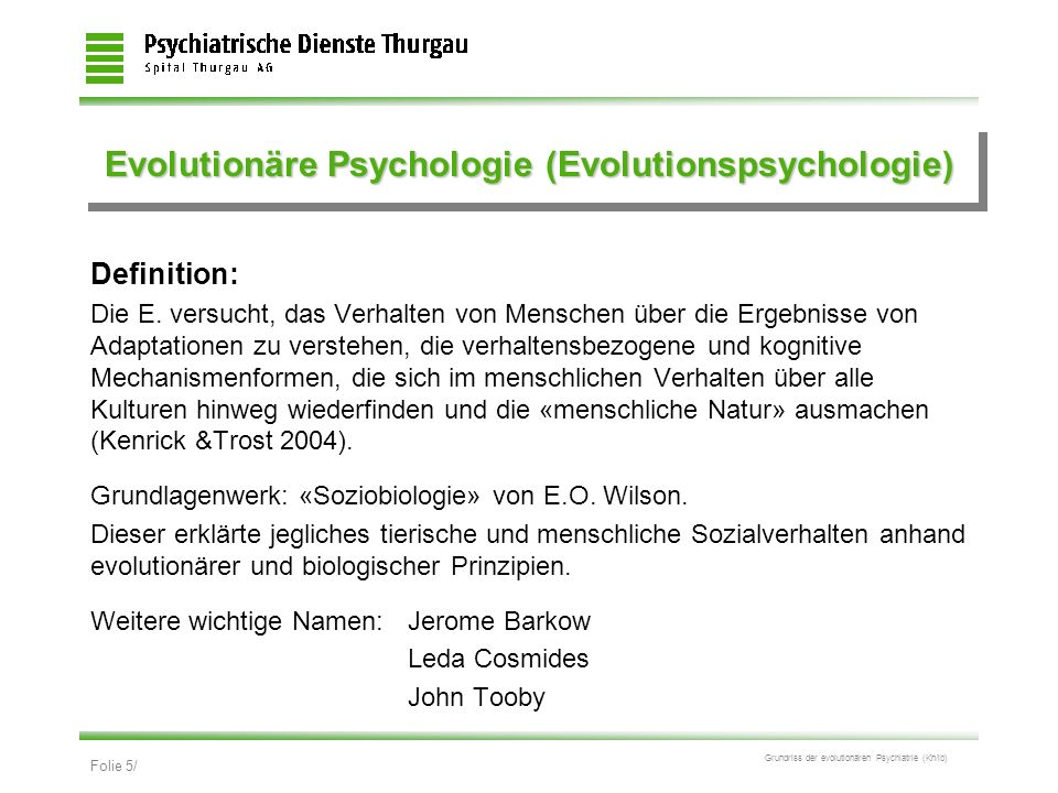 Evolutionäre Psychologie (Evolutionspsychologie)