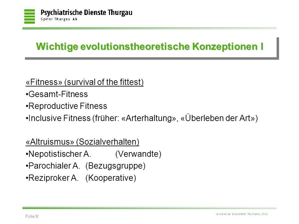 Wichtige evolutionstheoretische Konzeptionen I