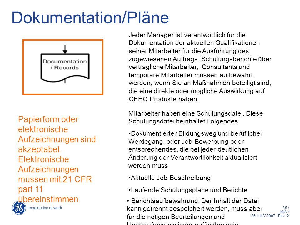 Dokumentation/Pläne