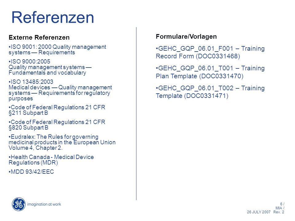 Referenzen Formulare/Vorlagen Externe Referenzen