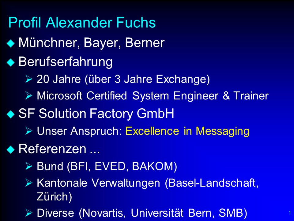 Dienstleistungen der SF Solution Factory GmbH