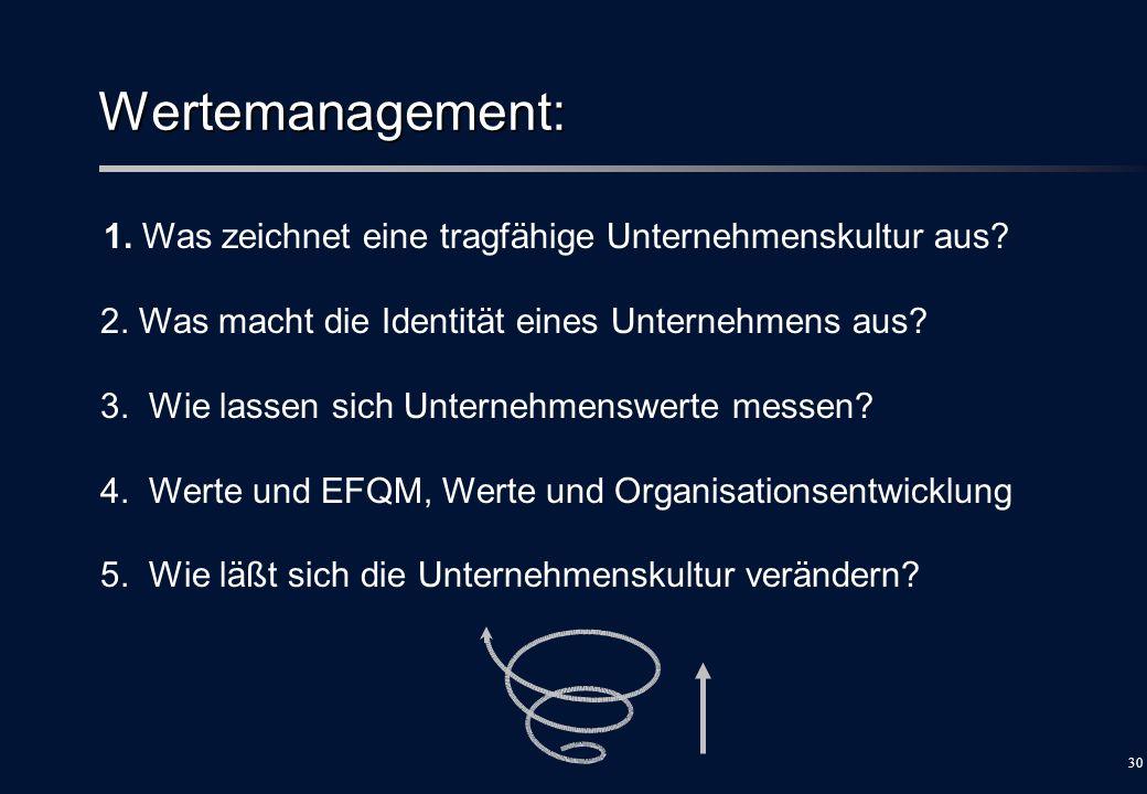 Wertemanagement: 2. Was macht die Identität eines Unternehmens aus