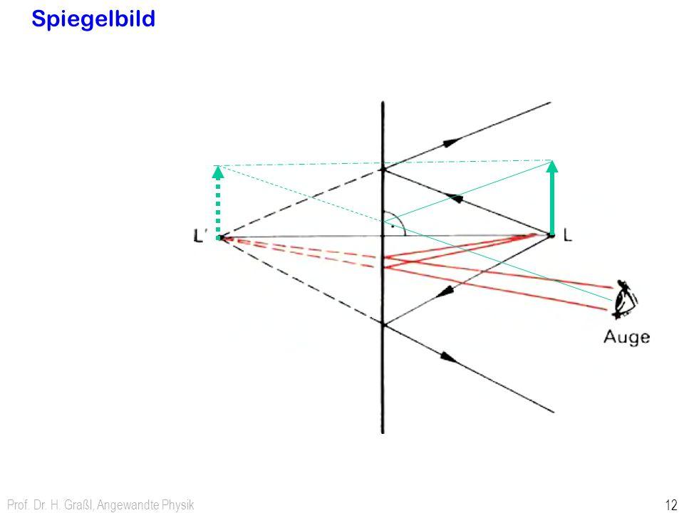 Spiegelbild Prof. Dr. H. Graßl, Angewandte Physik