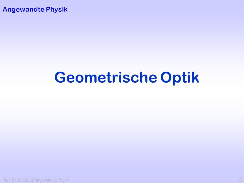 Geometrische Optik Angewandte Physik