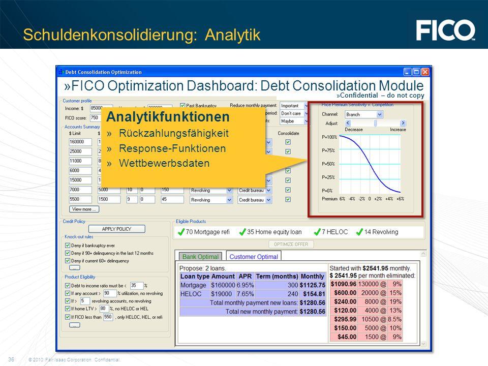 Schuldenkonsolidierung: Analytik