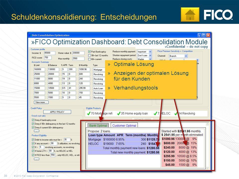 Schuldenkonsolidierung: Entscheidungen