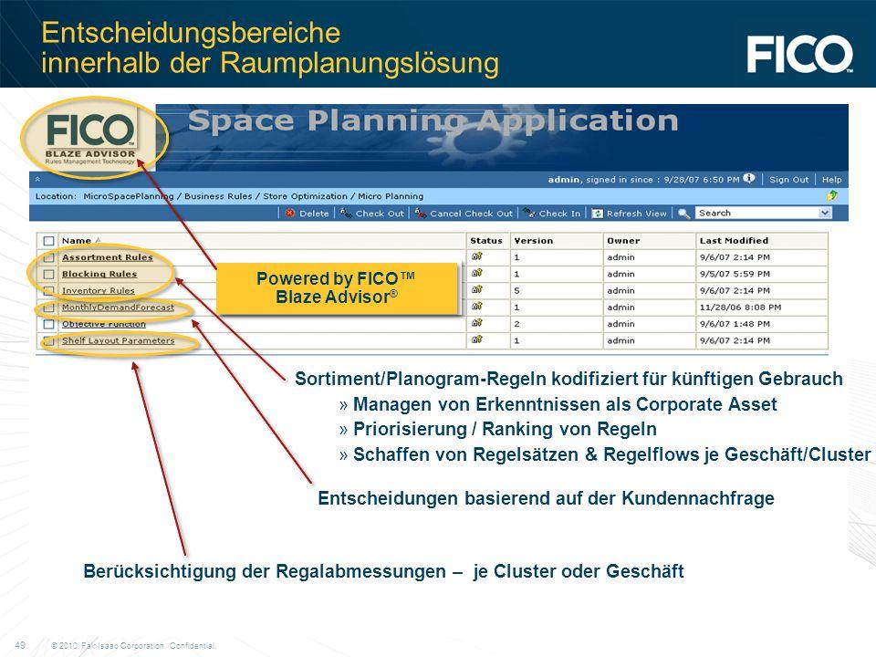 Entscheidungsbereiche innerhalb der Raumplanungslösung