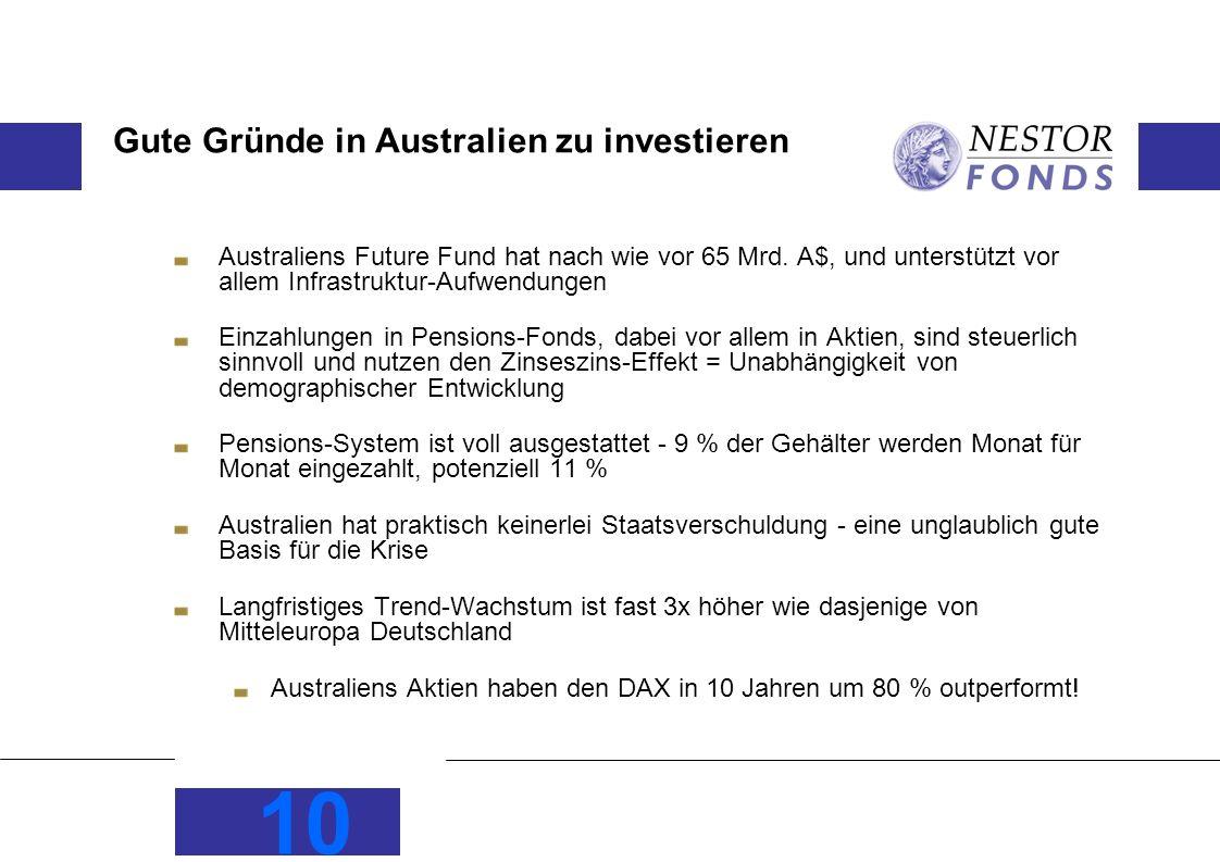 Gute Gründe in Australien zu investieren