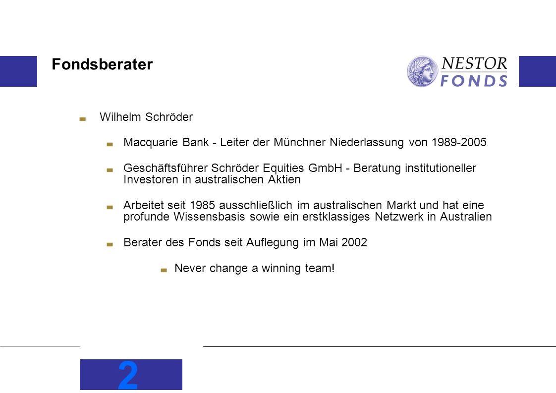 Fondsberater Wilhelm Schröder
