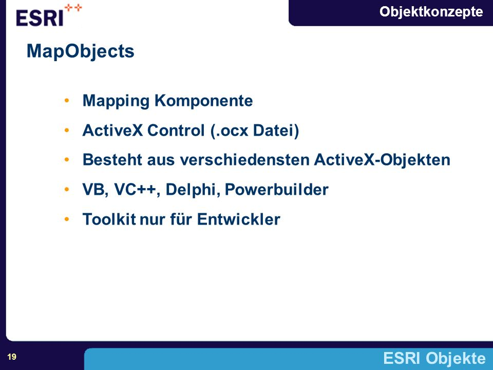 MapObjects Mapping Komponente ActiveX Control (.ocx Datei)