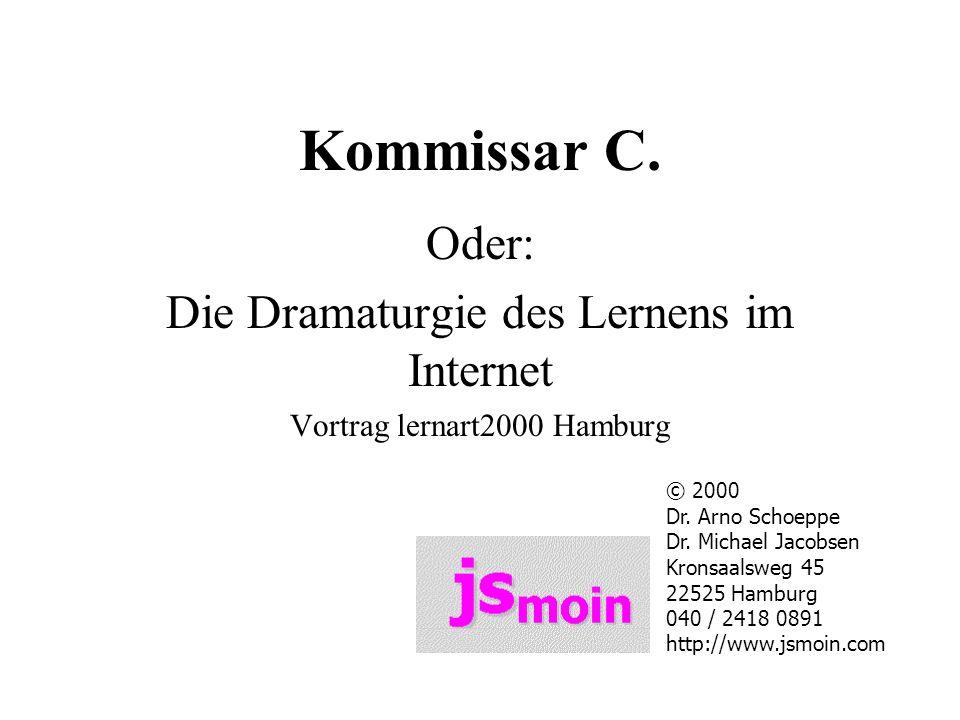 Kommissar C. Oder: Die Dramaturgie des Lernens im Internet