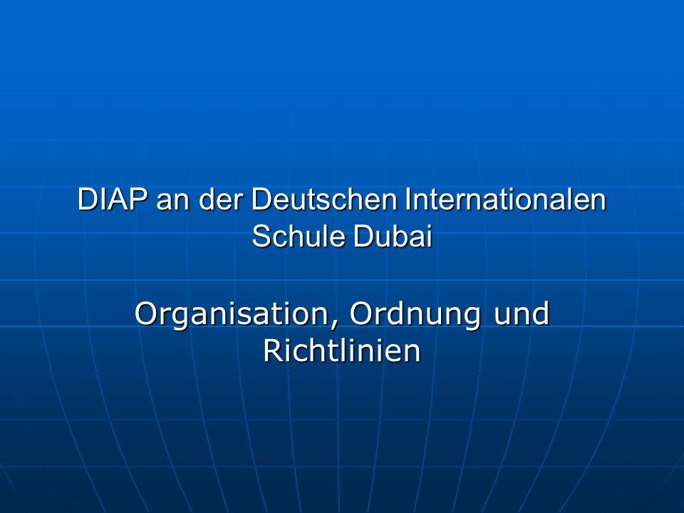 DIAP an der Deutschen Internationalen Schule Dubai