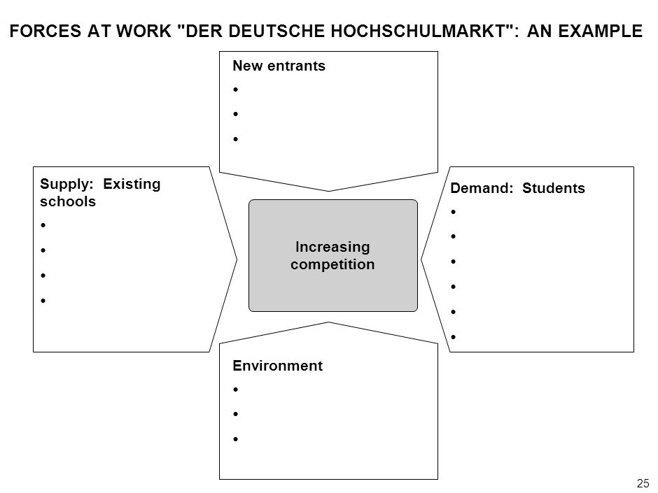 FORCES AT WORK DER DEUTSCHE HOCHSCHULMARKT : AN EXAMPLE