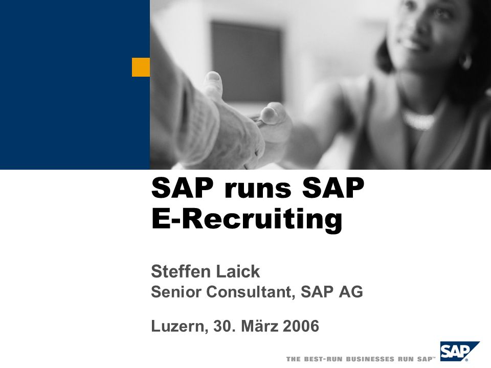 SAP runs SAP E-Recruiting