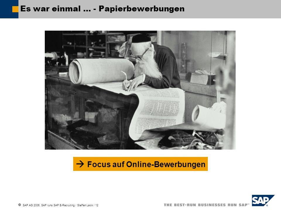 Es war einmal … - Papierbewerbungen