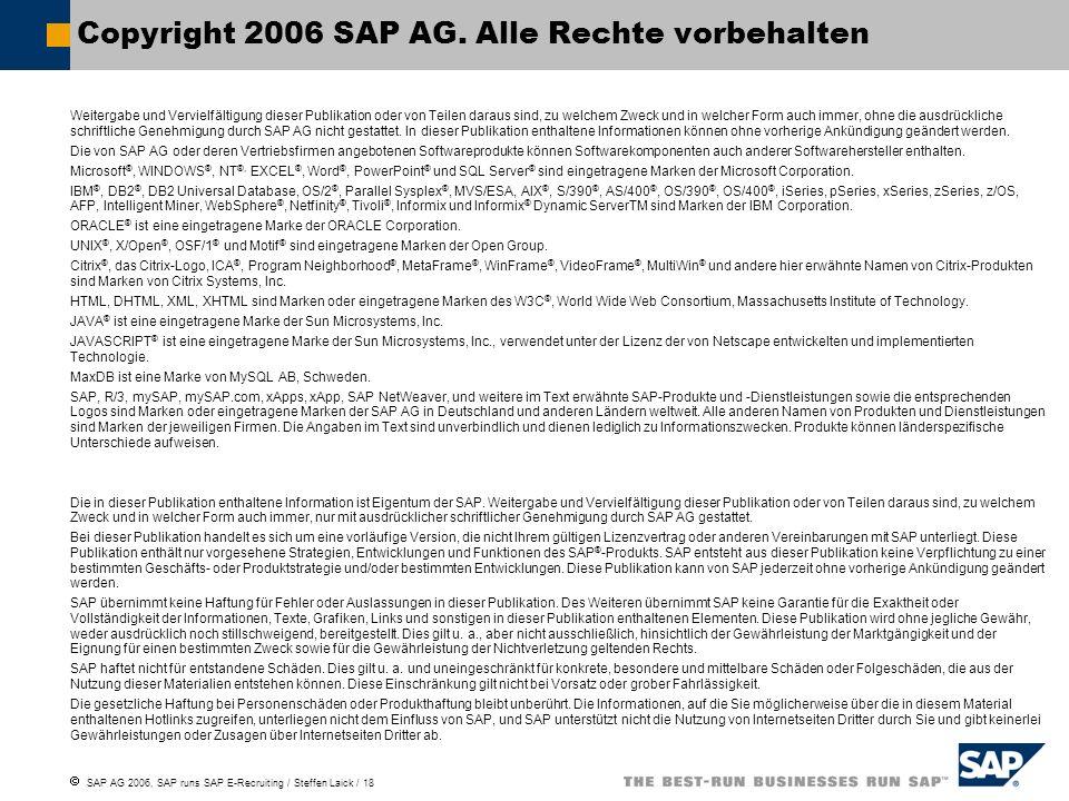 Copyright 2006 SAP AG. Alle Rechte vorbehalten