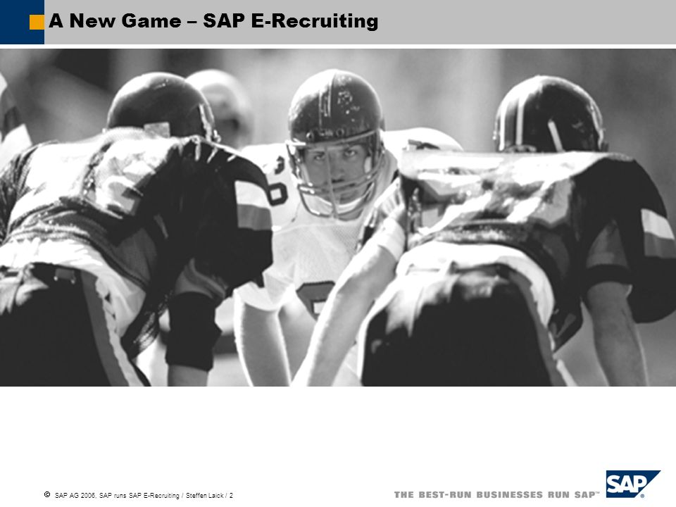A New Game – SAP E-Recruiting
