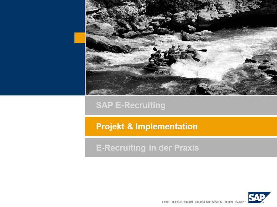 SAP E-Recruiting Projekt & Implementation E-Recruiting in der Praxis